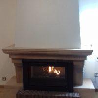 Lacunza Gold 800 Plus adaptado a chimenea rústica de Chimeneas Molina