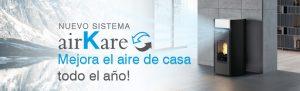 Sistema Airkare Edilkamin con ozonizador e ionozador Chimeneas Molina
