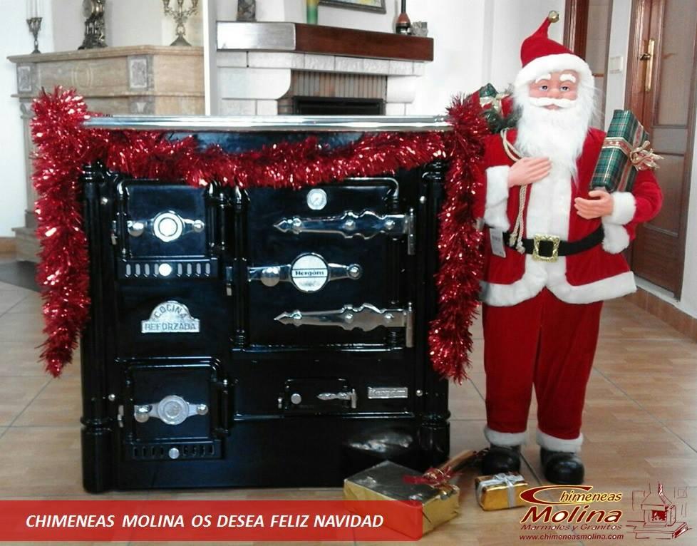Cocina leña Hergom en Navidad Chimeneas Molina