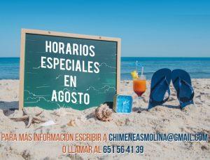 Horario de Verano Chimeneas Molina